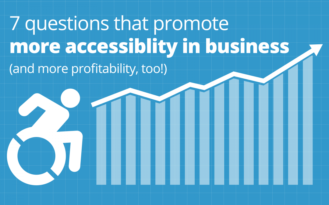 Title card showing a wheelchair icon and a profits chart