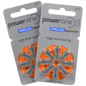 power one hearing aid batteries size 13 (orange) 2 8-packs