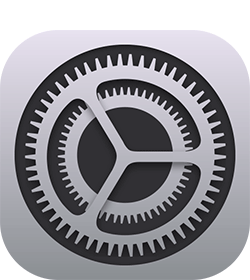 iPhone settings app image icon