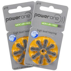 power one hearing aid batteries size 10 (yellow) 2 8-packs