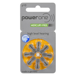 power one hearing aid batteries, size 10 (yellow), 8-pack