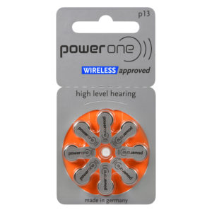power one hearing aid batteries, size 13 (orange), 8-pack