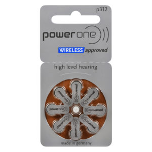 power one hearing aid batteries, size 312 (brown), 8-pack