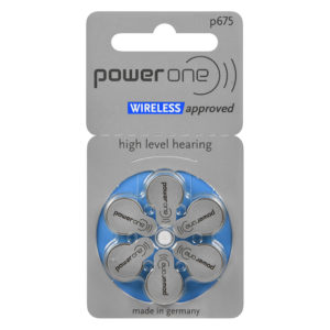 power one hearing aid batteries, size 675 (blue), 6-pack